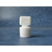 804 - PTFE Stopper, Solid, Penny Head, Flask Length Sizes