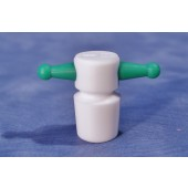 CO-806 - Teflon  Handle Stopper, Solid, Flask Length sizes